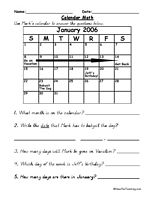 1000+ ideas about Calendar Worksheets on Pinterest