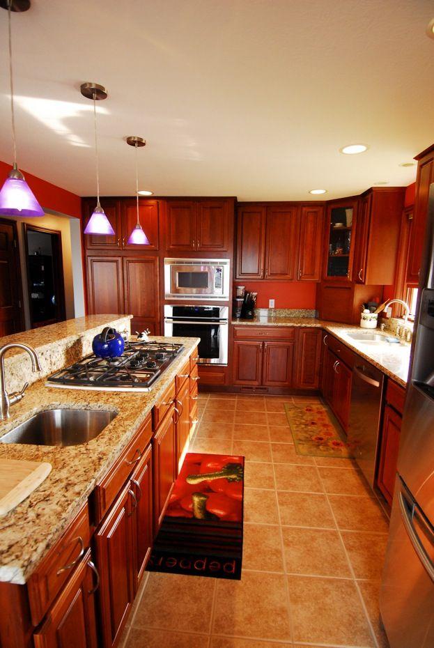 Schrock Cabinets Essence Cherry Briarwood Kitchen