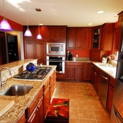 Black Kitchen Countertops Repair Faucet Schrock Cabinets - Essence Cherry Briarwood | ...