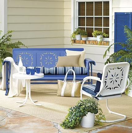 1000 ideas about Vintage Patio Furniture on Pinterest  Vintage Patio Porch Glider and Patio Sets