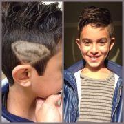 superman kids hair cut nail