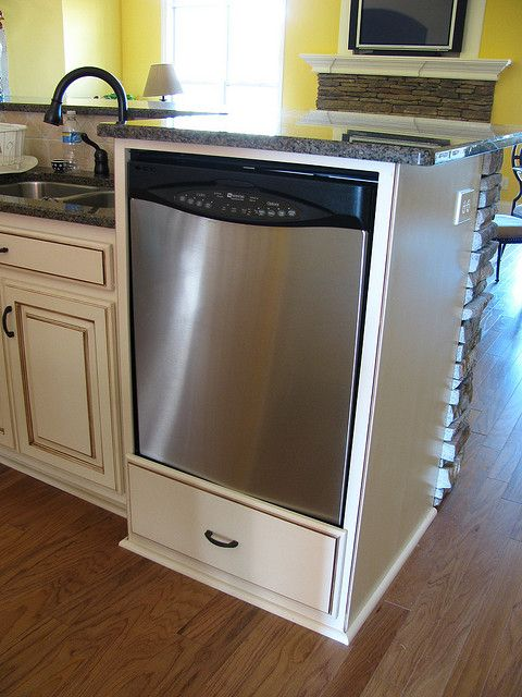 elevated dishwasher cabinet  photo  For the Home
