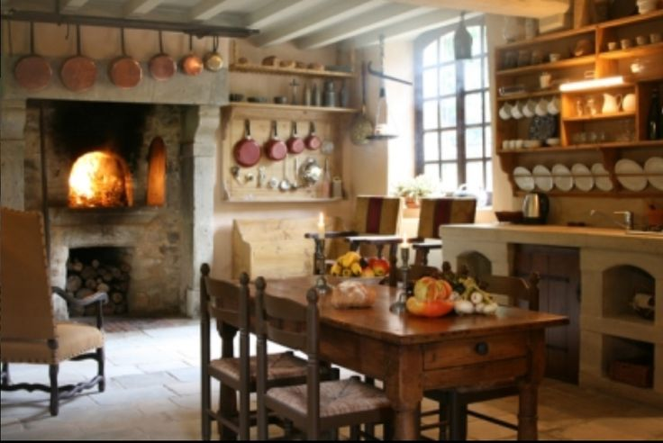 Rustic French Kitchen With Wood Fired Oven Prim Amp Colonial Kitchens And Diningrooms