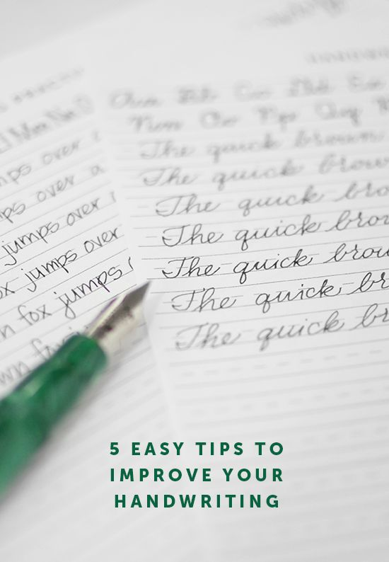 5 Easy Tips For Improving Your Handwriting Free Printable Print And Cursive Alphabet Guide