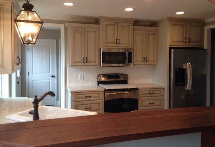 Glazed cabinets in Agreeable Gray  Ideas for home