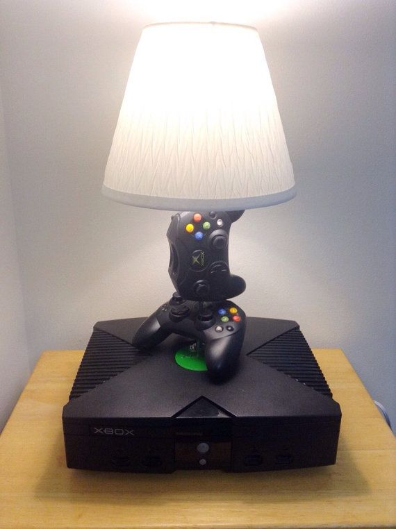 Microsoft Original Xbox Desk Lamp Light Sculpture  Therons Game Room Purchased  Pinterest