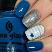 royal blue and silver design