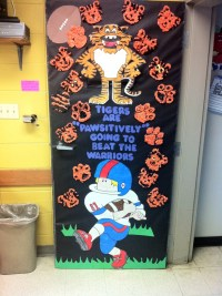 My homecoming door decoration.