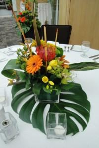 tropical floral centerpieces   Wedding Flowers ...