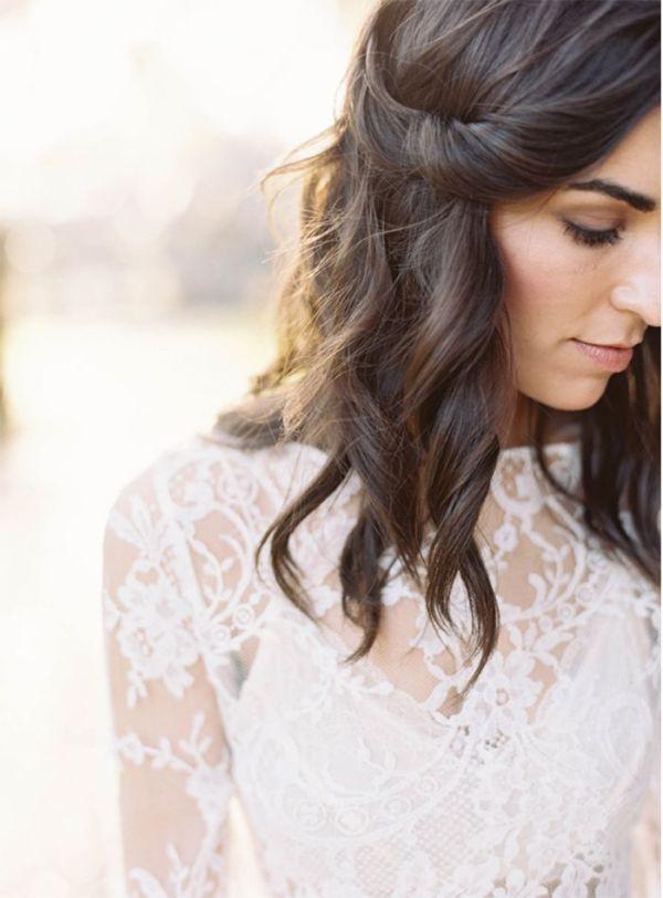 30 Lob Hairstyles Wedding Hairstyles Ideas Walk The Falls