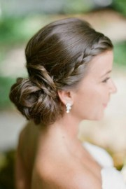 braid with side chignon bridal