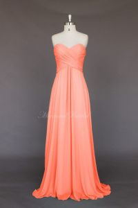 Salmon Colored Bridesmaid Dress