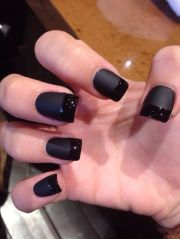 matte black acrylic nails