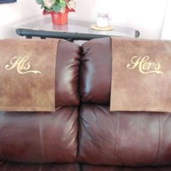 Leather Chair Pads Infant For Bathtub Recliner-cap-chair-hd-cover-headrest-pad-furniture-his-her-set-2toneleather-look   Furniture ...