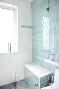 Bathroom designed by Enviable Designs - An accent wall in ...