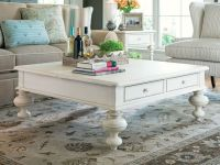 square shabby chic coffee table with gustavan style ...