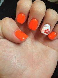 Neon Orange Nail Designs | www.pixshark.com - Images ...