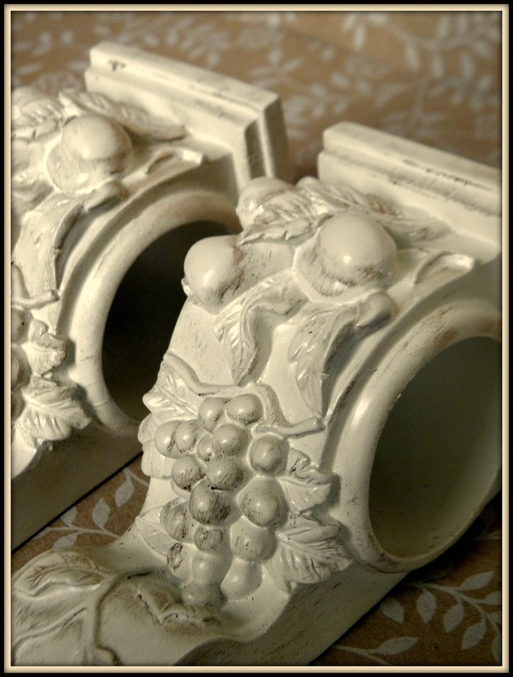 Set of 2 Shabby French Cottage Chic Drapery Wall Sconce