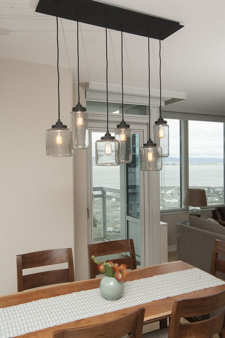 Mason Jar Light Fixture/ Jill Cordner Interior Design