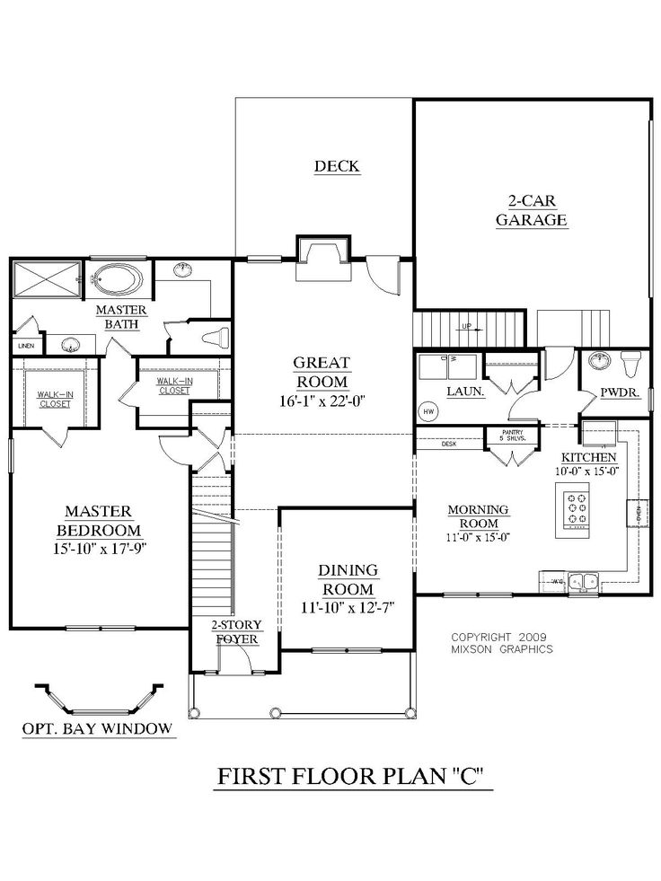 House Plan 2675-C Longcreek