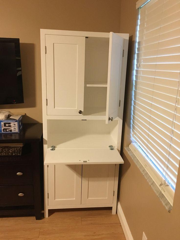 Secretary Desk and Storage Cabinet DIY  Living Room