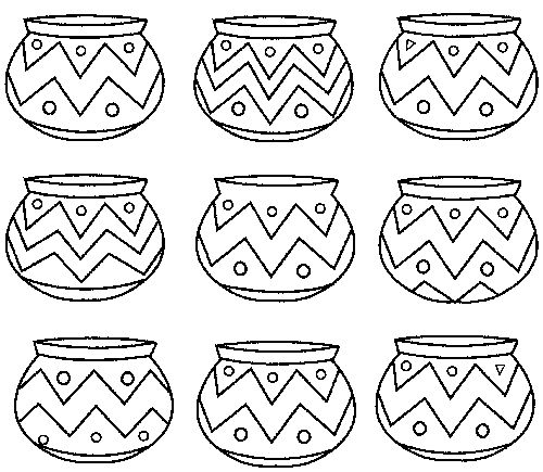 Native American Pottery Pages Coloring Pages