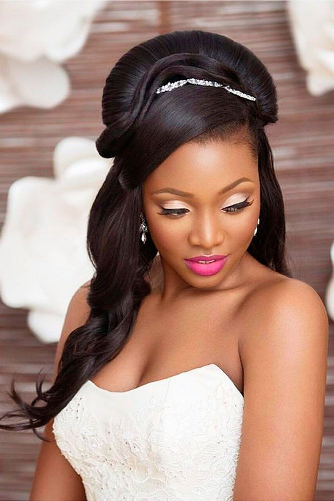 17 Best ideas about Black Wedding Hairstyles on Pinterest  Updos for black hair Black wedding