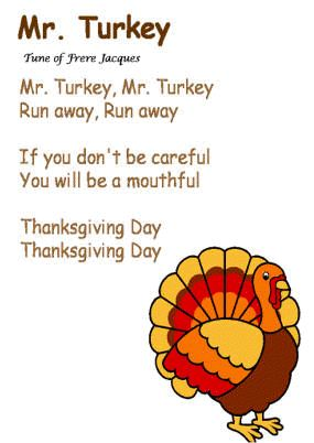"""""""Mr Turkey"""" Song To The Tune Of Frere Jacques"""