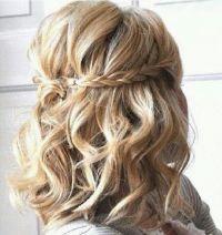 Short curled hair with braid so cute!!!   Beauty ...