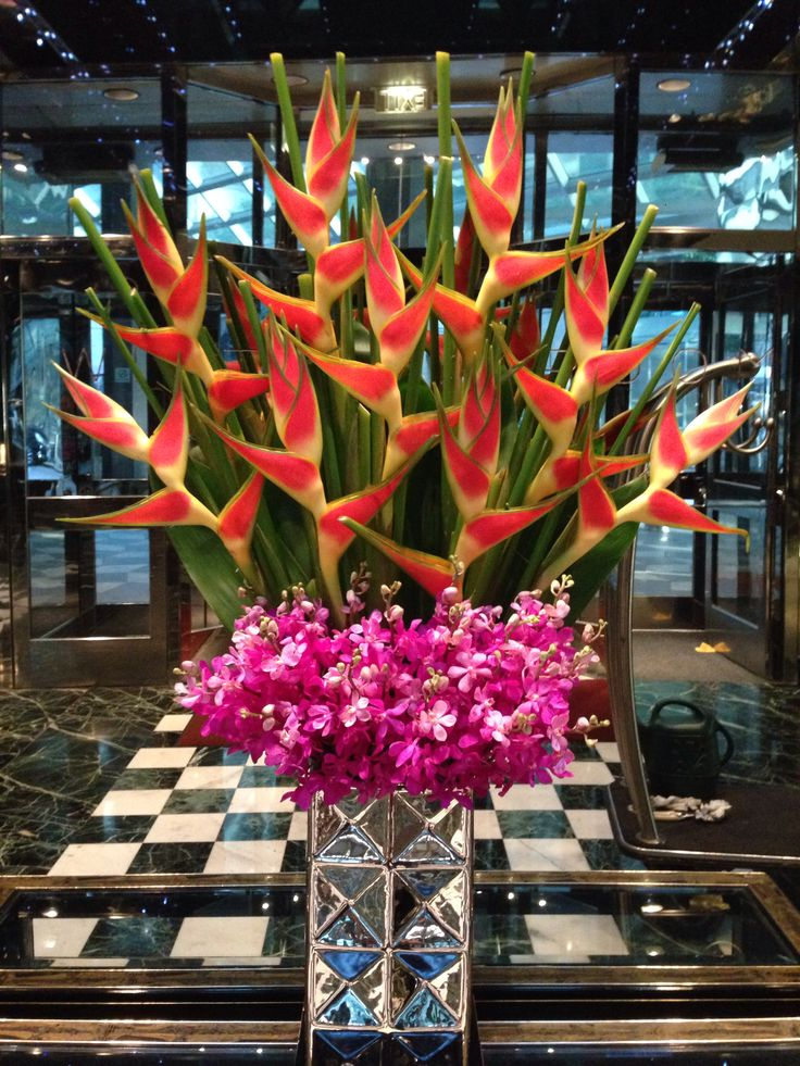 Hotel Lobby Design Heliconia Floral Designs Pinterest