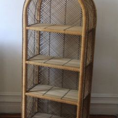 Metal Kitchen Trash Can Country Dining Tables Vintage Wicker Storage Shelf | Home Stuff Pinterest ...
