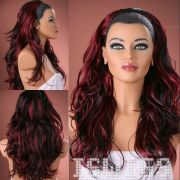 black red burgundy hair color