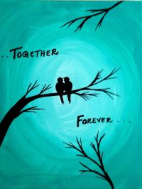 Christmas gift Together Forever Acrylic painting canvas