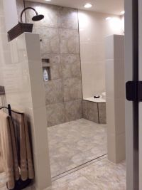Walk in Shower and Tub area. No door to clean. Loving it ...