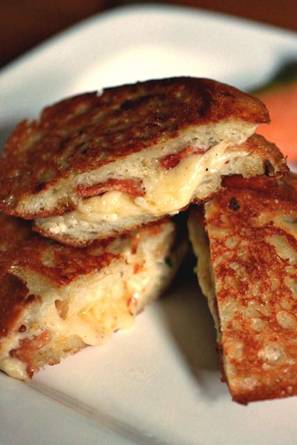 Barefoot Contessa's ultimate grilled cheese sandwiches. Court and I made these last weekend and I think this sandwich changed my