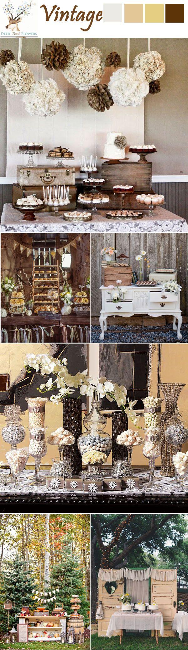 38 Adorable Wedding Dessert Table Ideas | http://www.deerpearlflowers.com/38-adorable-wedding-dessert-table-ideas/: