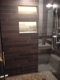 Led tape inside shower niche | Tile ideas | Pinterest ...