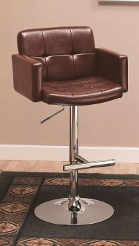 Amazon.com - Coaster Adjustable Bar Stool with Arms in ...