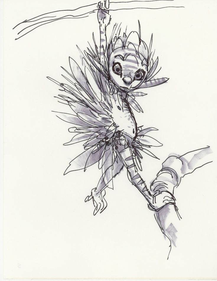 A Collection Pen Drawings Creature Elf Ideas