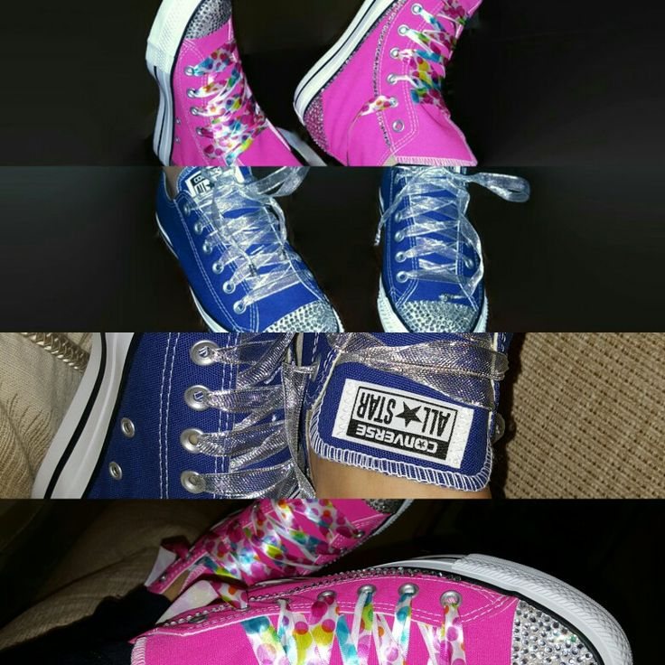 1000 ideas about Bedazzled Converse on Pinterest