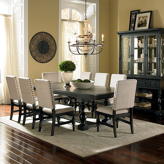 Leona 7pc Formal Dinning Set Table  6 Side Chairs by