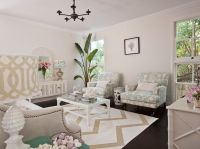 Seafoam green and beige living room design with light tan ...