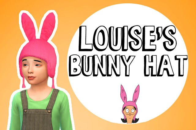 Sims 4 CCs  The Best Bunny Hat by Im Tater  Sims 4 CC