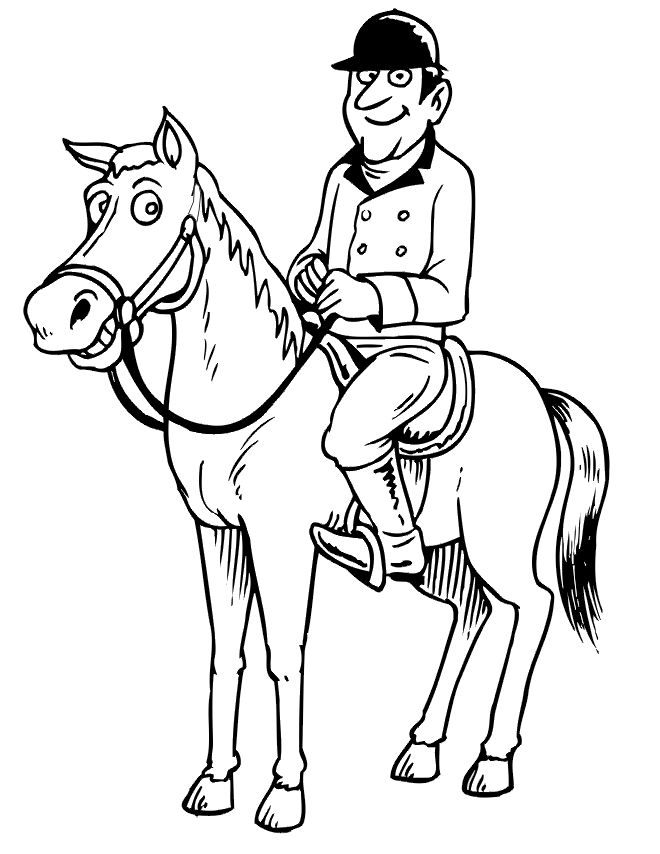 17 Best images about Kentucky Derby coloring pages on