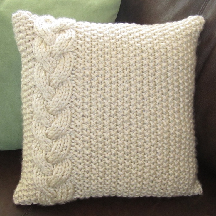 25 best ideas about Knitted Pillows on Pinterest