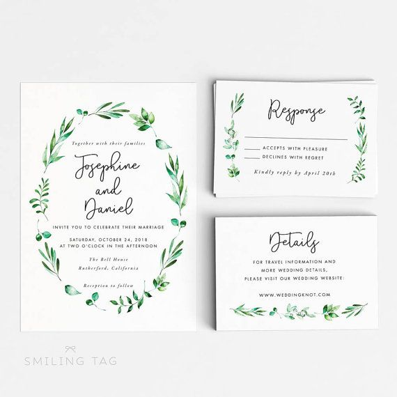 25+ best ideas about Printable wedding invitations on