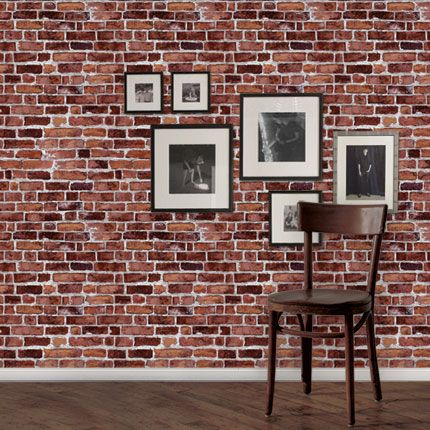 Brick Wallpaper Red Peel And Stick Wallpapers Home