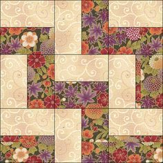 simple block would make a quick 2 fabric or scrappy baby quilt