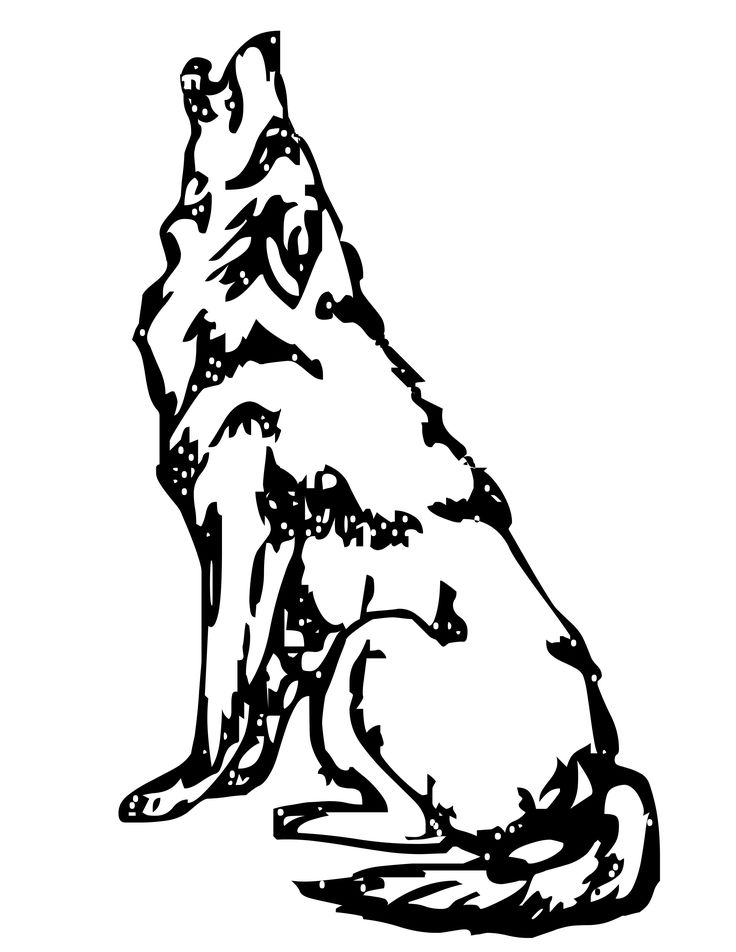 1000+ images about wolf coloring pages on Pinterest