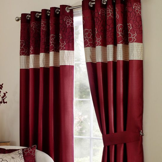 Wine Scattered Flowers Curtain Collection Dunelm Living Room Red Pinterest Shops
